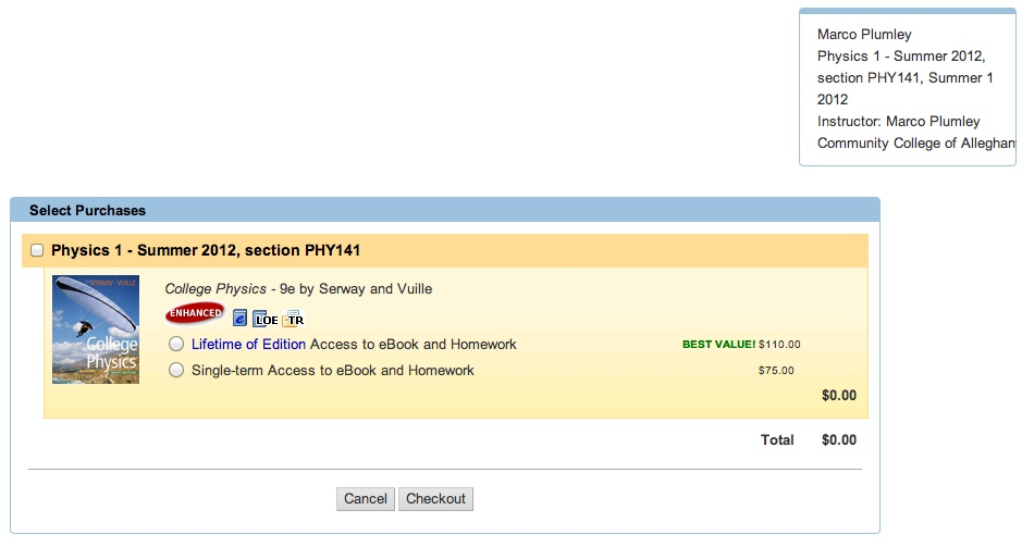 Logging into webassign first option if you want a lifetime edition of the book do you really want it or select option two for a single term access to the course and ebook fandeluxe Image collections